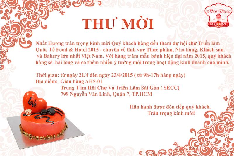 Thư Mời Tham Gia Hội Chợ Food & Hotel Vietnam 2015